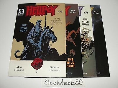 Hellboy The Wild Hunt #4 & 8 Comic Lot Dark Horse 2008 Mike Mignola Fegredo RARE