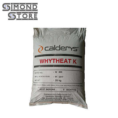 Castable Refractory Cement, 60% Alumina Dense Castable,Whytheat K,  55 LBS