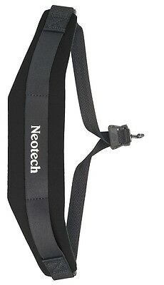 Neotech Saxophone Strap / Sling - Soft Black Neoprene Metal Hook - For Alto Sax