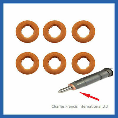 BMW 535d 3.0 Common Rail Diesel Injector Washers X 6
