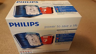 NEW SEALED Philips HeartStart Home AED Defibrillator HS1 + Red Case M5068A