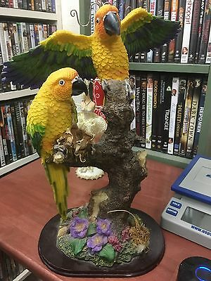 Parrots yellow Birds figurine