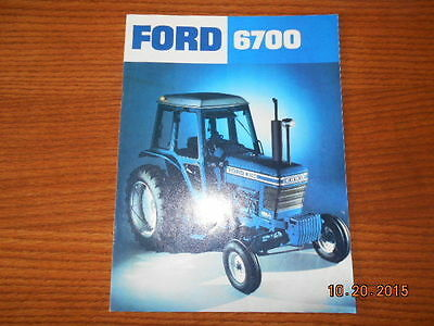 Ford 6700 tractor sales brochure