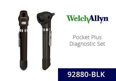 Welch Allyn 92880 BLK LED 2.5 V Pocket Plus Diagnostic Set with Ophthalmoscope