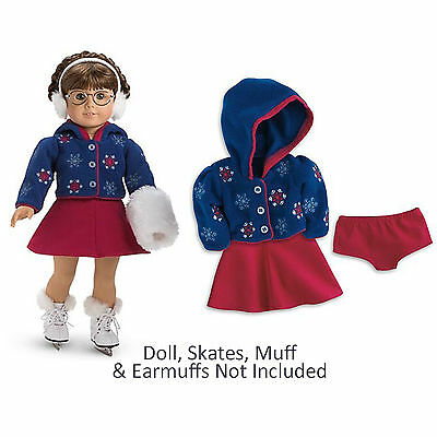 "American Girl MOLLY ICE SKATING OUTFIT for 18"" Dolls Clothes Molly's Retired NEW"