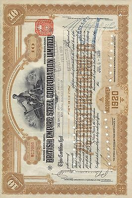 Stock Cert.: 1926, Canada, Punch Cancel, See Remart (S7259)