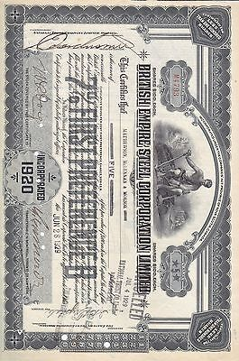 Stock Cert.: 1929, Canada, Punch Cancel, See Remart (S7250)