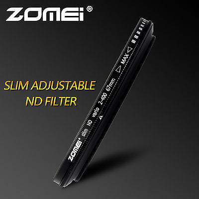 ZOMEI 49/52/55/58/62/67/72/77/82mm ND2-400 Fader Adjustable Variable Filter DSLR