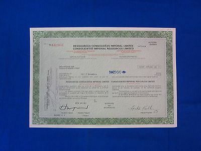 Stock Cert.: Canada, 1981, See Remark (S7194)