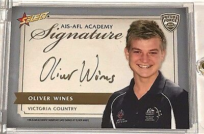 2012 Select AFL Future Force GOLD Signature Oliver Wines FFGS9 27/40 POWER RARE!