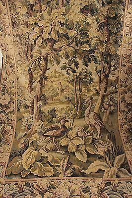 Vintage French tapestry woven curtain Aubusson design machine woven drape