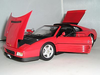 X5480 Hot Wheels Elite Red Ferrari F348TS Red 1:18 Diecast Model Sports Car New