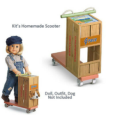 "American Girl KIT'S HOMEMADE SCOOTER Crate for 18"" Dolls Historical Kit Grace"