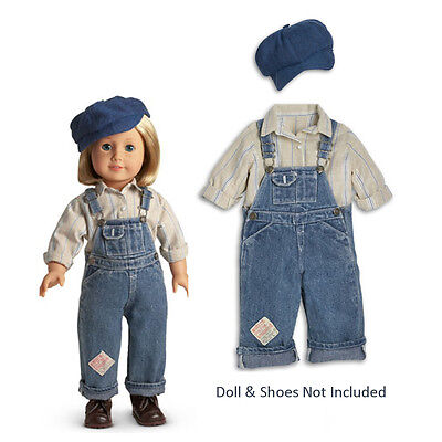 "American Girl KIT'S OVERALLS OUTFIT for 18"" Dolls Retired Kit Clothes Bibs NEW"
