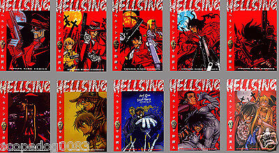 Hellsing Kohta Hirano Japanese Anime Manga Book Set Vol.1-10 Free Shipping