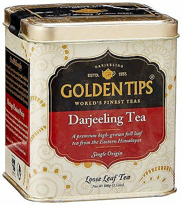 Golden Tips Darjeeling Tea, 100g / 3.5oz TIN