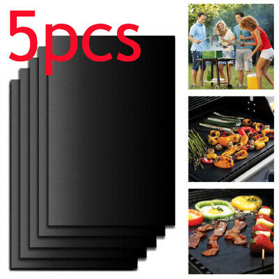 5X BBQ Grill Mat Non-Stick Reusable Resistant Barbecue Baking Sheet Cooking Meat