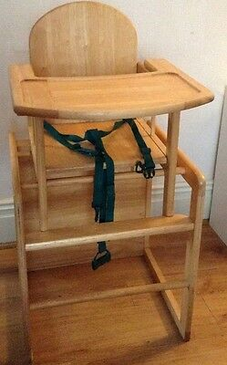 John Lewis East Coast 3 In 1 Highchair Chair Wooden Table
