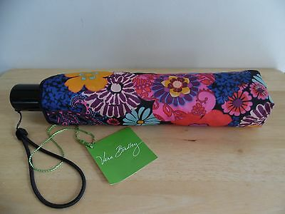 Vera Bradley UMBRELLA Compact One Touch Automatic Open FLORAL FEISTA  New w/Tag
