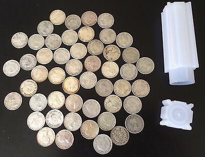 Canada Silver 10 Cents 80% Silver Lot Of 50 Coins Free Holder Canadian Ten¢ Dime