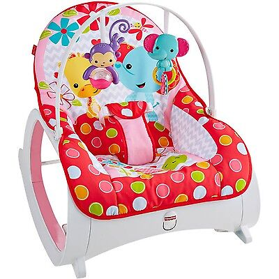 Fisher Price Infant-To-Toddler Rocker FLOWERY CHEVRON New Free Shipping