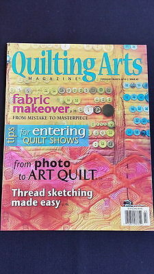 Quilting Arts Back Issue No 43, Usa Magazine, February / March 2010