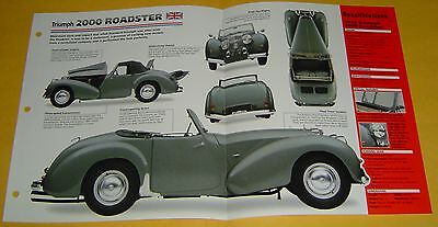 48 1949 Triumph 2000 Roadster Convertible 2088cc 4 Cyl IMP Info/Specs/photo 15x9