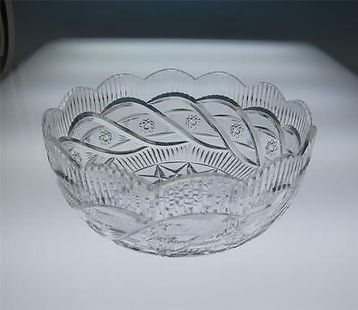 Waterford Heritage Master Cutter Apprentice Bowl Cut Crystal Ireland Star Glass