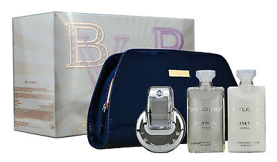 Bvlgari Bulgari Omnia Crystalline 65ml EDT+ 75ml Body Lotion + 75G Seife + Pouch