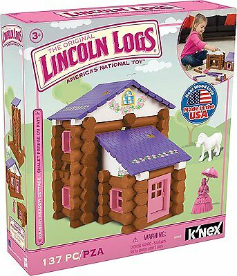 LINCOLN LOGS-Country Meadow Cottage-00850 -137PCS-Ages 3+ NEW-Building Toy
