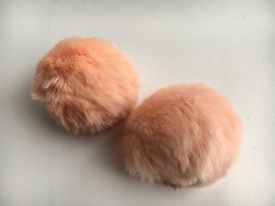 Large Pom Pom Shoe Clips Nude Pink 8cm | Free Ship to UK