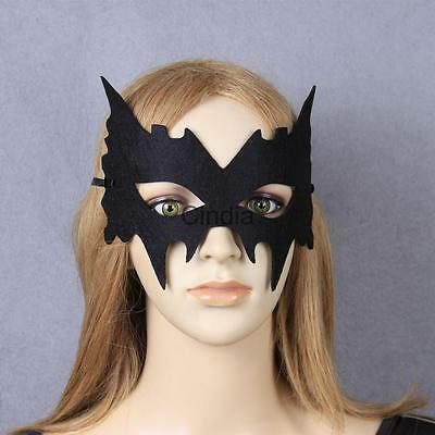 Halloween Venetian Bar Masquerade Costume Ball Party Supply Black Veil Mask