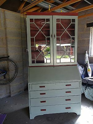 Antique Writing bureau with display cabinet