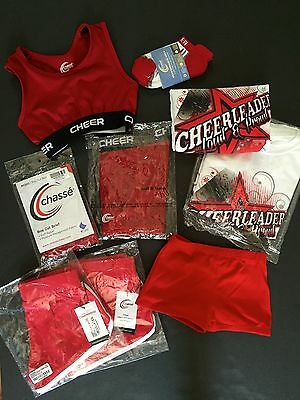 Chasse NEW Cheer compression shorts, jersey shorts, t-shirt, bloomers Youth
