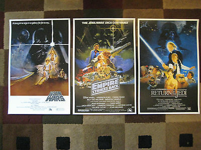 "Star Wars Trilogy (11"" x 17"") Movie Collector's Poster Prints ( Set of 3 )"