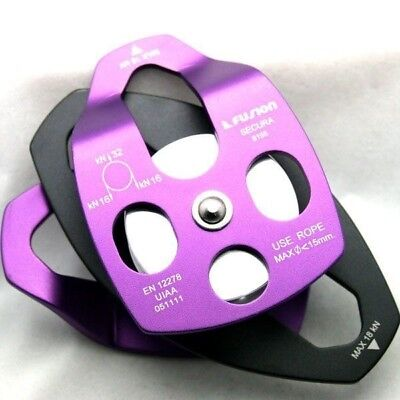 """Fusion Climbing FP-8155-PURPLE Secura 2"""" side swing Stage Rigging Climbing"""