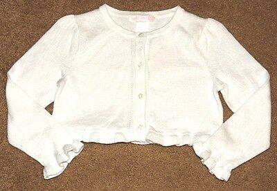 NEW JANIE AND JACK Butterfly Dream White Shrug Cardigan Sweater 4 4T NWT