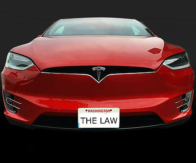 The Law Removable Front License Plate Bracket for Tesla Model X
