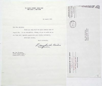 General Douglas MacArthur [TLS] Typed Letter Signed General Of The Army