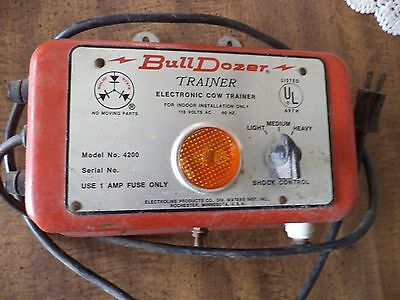 Bull Dozer Electric Fence Charger Cow Trainer