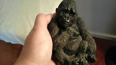 Small Resin Sitting Black Gorilla Bear