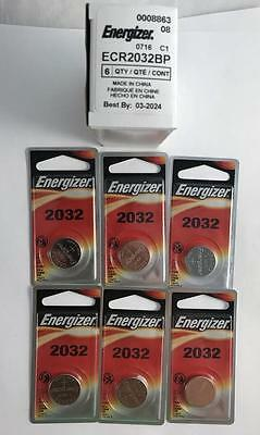 6 Pack Genuine Energizer ECR2032BP 2032 3V Lithium Batteries Expiration 03/2024