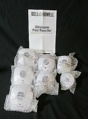 New 7 Pack Bell + Howell Ultrasonic Pest Repeller Home Kit Indoor + Extra Outlet