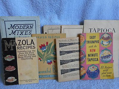 Vintage Lot 1910s 1930s Cook Book Mazola, Calumet, Lye Antique Advertising