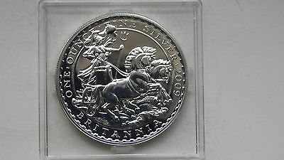 2009 Britannia 2 Pounds Charriot Silver BU Coin