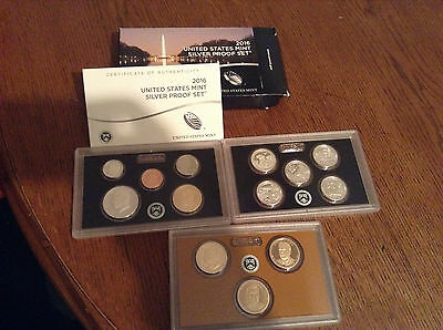 2016  United States Mint Silver Proof Set in OGP with COA