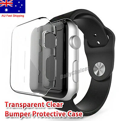 Apple Watch TPU Full Screen Protector for 38mm & 42mm Case Cover iWatch 1 2 3