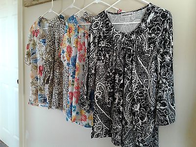 Cathy Daniels Womens Tops Size XL Lot of 4