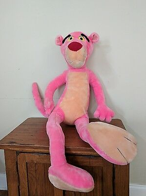 """Large 40"""" Poseable PINK PANTHER Plush Stuffed Toy"""