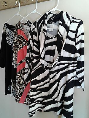 ADressingWoman Womens Tops Variety Size XL Lot of 3